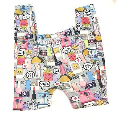 Capell Girls Leggings Athletic Pants Small Medium Unicorn Printed Emoji