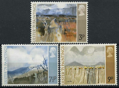 GB 1971 Ulster 1971 Paintings SG881-3 Complete Set Unmounted Mint