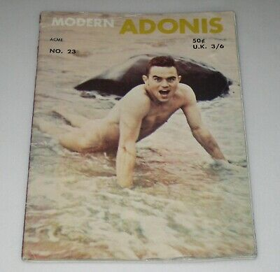 1950's MODERN ADONIS #23 Male Gay Magazines BODY BUILDING Muscles