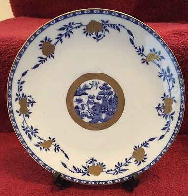 Antique Museum Quality Minton Blue White Gold China Plate Aesthetic Movement