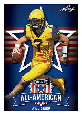 10 ct lot Will Grier 2019 Leaf Draft Football All American Insert Rookies RCs