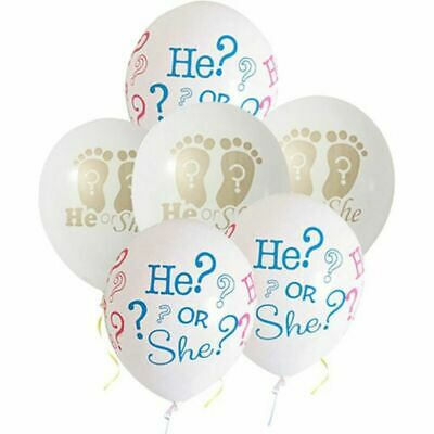 Or Baby Gender Decoration Ballon Balloons 10pcs Shower Reveal Party Latex She He