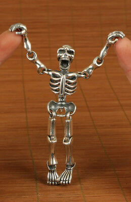 79g sterling silver Machinery McQueen activity skeleton pendant personality