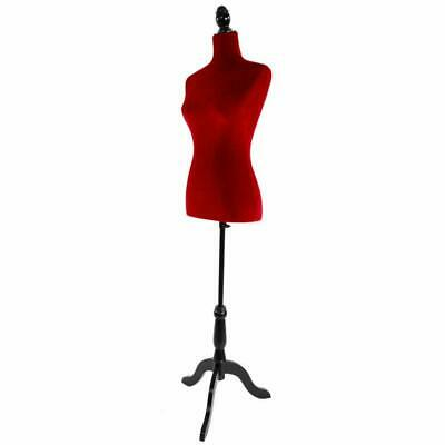 Female Mannequin Torso Red Clothing Clothes Dress Form Display /w Tripod Stand