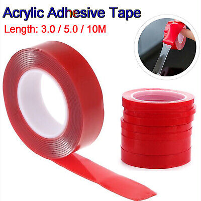 3/5/10M Double Sided Acrylic Adhesive Tape High Strength Gel Transparent Car Fix