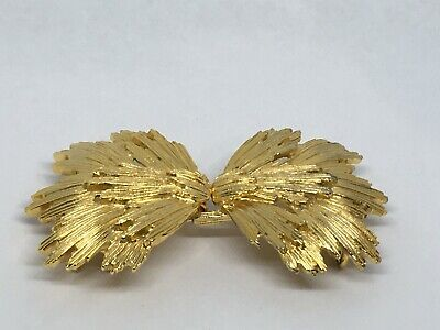 Vintage Signed Mimi Di N 1984 Gold-Tone Belt Buckle