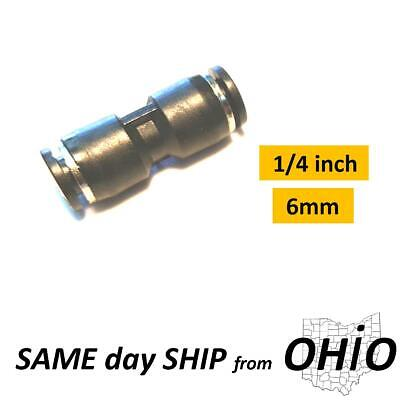 1x Union Splice 1/4 inch Tube Pneumatic Parts Connector Air Line Fitting Adapter