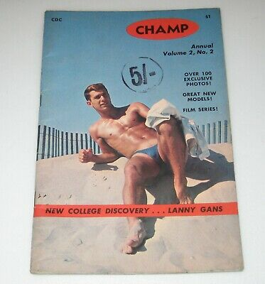 1950's CHAMP Vol.2 No.2 Male Gay Magazine BODY BUILDING Muscles
