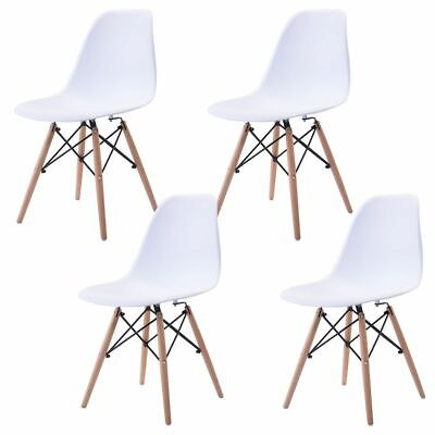 2/4 X Retro Replica Eames Eiffel Dining Chairs DSW Lounge Cafe Kitchen Chairs