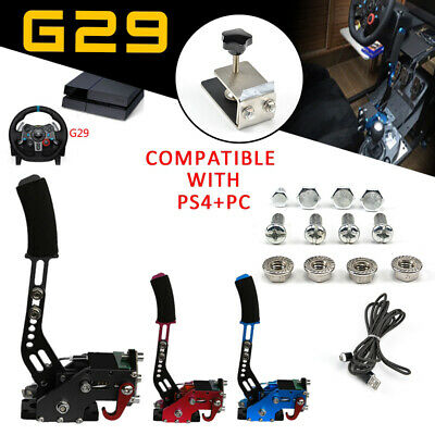 Hot! USB Handbrake for SIM Racing Games Logitech G29 Compatible w/ PC PS4+Clamp