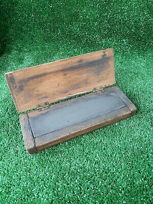Small Sharpening Stone Oil Stone In A Wooden Box (537)