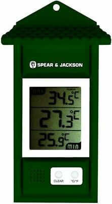 Spear & Jackson 53106 Thermomètre Mini Maxi Digital Vert