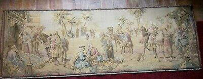 Lovely Large Vintage Tapestry, Arabian Style with Desert and Camels 150cm x 50cm
