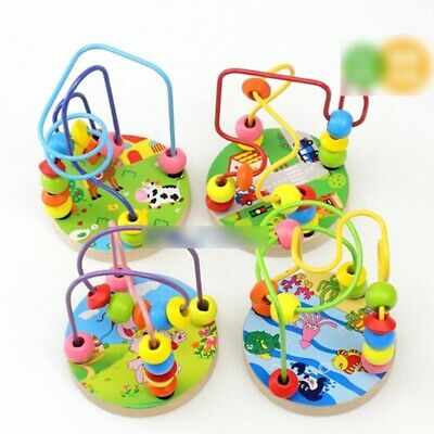 Around Beads Maze Mini Toy Intellect Children Wood Educational Game Funny Toy