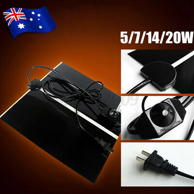 Pet Electric Adjustable Heat Reptile Lizard Heating Mat Warmer Blanket 35°C Pad