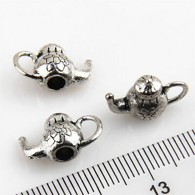 Wholesale 100Pcs Teapot #3 Antique Silver Charms Wine Pot Flask For DIY Making