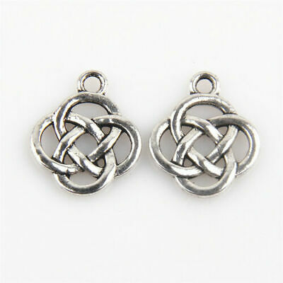 Wholesale 150 Vintage Silver Alloy celtic Promise Pendants Charms Findings 1A196
