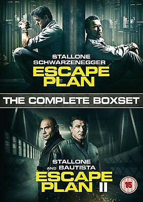 Escape Plan 1-2 Complete Box Set Dvd Sylvester Stallone Bautista New