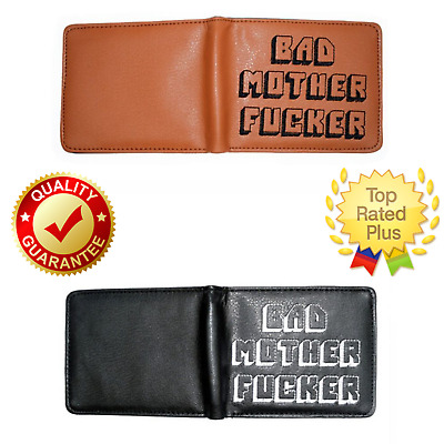 Bad Mother BMF Embroidered Leather Wallet Pulp Fiction Men Purse Vintage Gift