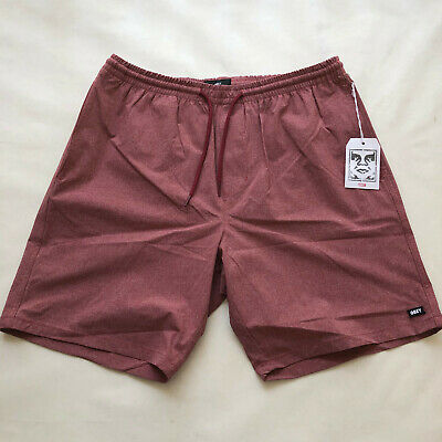 5a9349f812 Obey Men's Hybrid Shorts All City Heather Burgundy Size XXL NWT Shepard  Fairey