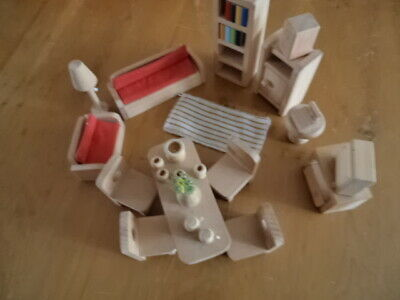 Wooden Toy Dolls House Furniture - Sitting & Dining Room Items
