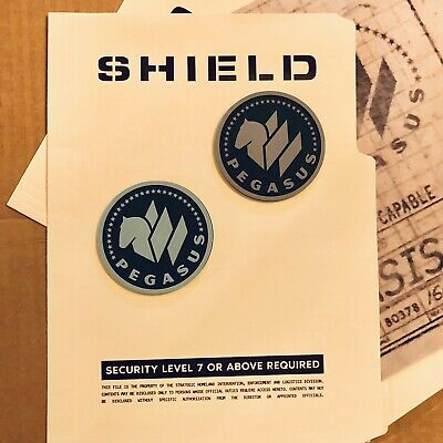 • Shield • Project Pegasus • Two Cosplay Prop Patches • Avengers Captain Marvel