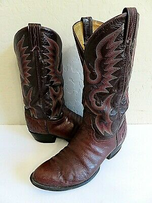 fdfc8f39ccc TONY LAMA 8417 Ostrich Leather Brown Tan Size 8.5 8 1/2 Mens **NICE ...
