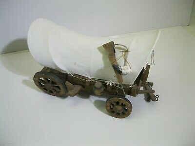 Vintage Wooden Toy Covered Chuck Conestoga Wagon