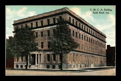 Dr Jim Stamps Us Postcard Ymca Building South Bend Indiana
