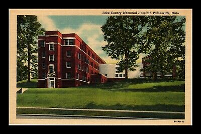 Dr Jim Stamps Us Lake County Memorial Hospital Painesville Ohio Linen Postcard