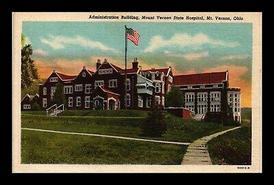 Dr Jim Stamps Us Mount Vernon State Hospital Ohio Linen Postcard