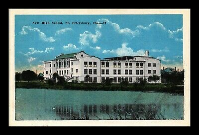 Dr Jim Stamps Us Postcard New High School St Petersburg Florida