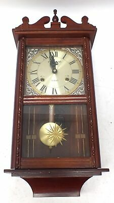 Vintage LAURaIN Decorative Wall Clock Lovely Design With Key & Pendulum - S89