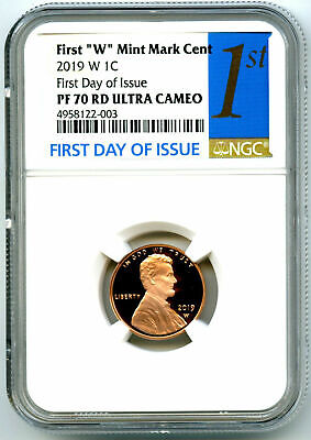 2019 W Lincoln Penny Ngc Pf70 First Day Issue Proof Cent W/ Us Mint Env & Insert