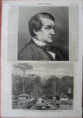 1872 Antique Prints - Earl of Mayo - Andaman Islands Murder - Viceroy of India