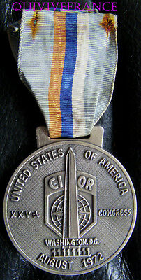 DEC3615 - MEDAILLE CIOR Interallied Confederation of Reserve Officers 1972 OTAN
