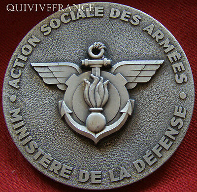 Med2964 - Medaille Action Sociale Des Armees Ministere Defense - French Medal