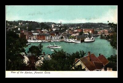 Dr Jim Stamps Us Postcard Harbor View Norwich Connecticut