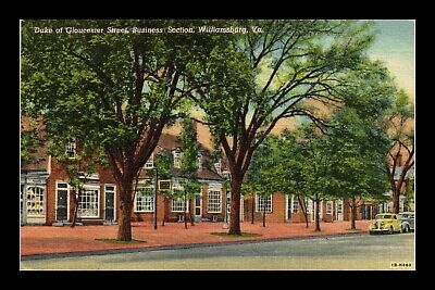 Dr Jim Stamps Us Postcard Duke Of Gloucester Street Williamsburg Virginia Linen