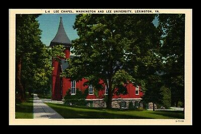 Dr Jim Stamps Us Postcard Lee Memorial Chapel Lexington Virginia