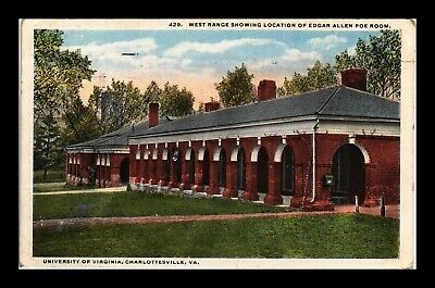 Dr Jim Stamps Us Postcard University Of Virginia Grounds Charlottesville