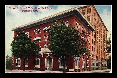 Dr Jim Stamps Us Postcard Ywca And Ymca Buildings Portland Oregon