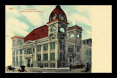 Dr Jim Stamps Us Postcard City Hall Bartlesville Oklahoma