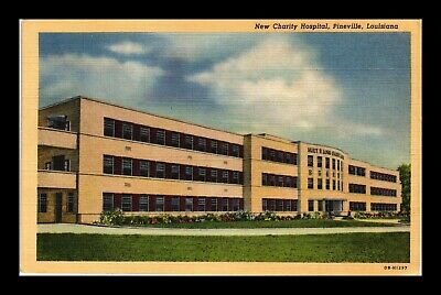 Dr Jim Stamps Us Postcard New Charity Hospital Pineville Louisiana Linen