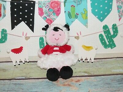 """Baby Starters Red White Eskimo Candy Cane Winter Christmas Fluffy Plush Doll 11"""""""