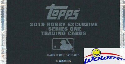 2019 Topps Series 1 Baseball HOBBY EXCLUSIVE Factory Sealed SILVER PACK