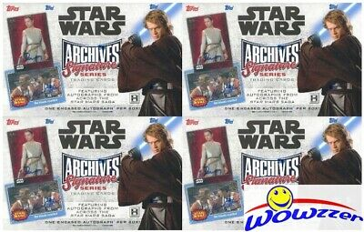 (4) 2018 Topps Star Wars Archives Signature Series HOBBY Box-4 Buyback AUTO