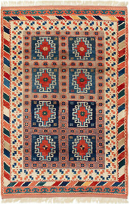 """Hand-knotted Turkish 3'10"""" x 5'10"""" Antique Shiravan Wool Rug...DISCOUNTED!"""