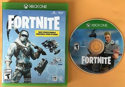 Fortnite Deep Freeze Bundle Disc and case Only NO CODE Xbox One