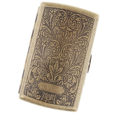 Men's Cigarette Case Stash Box Vintage Tobacco Storage Case Hold 20 Pcs E